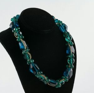 Green Faux Crystal Necklace.